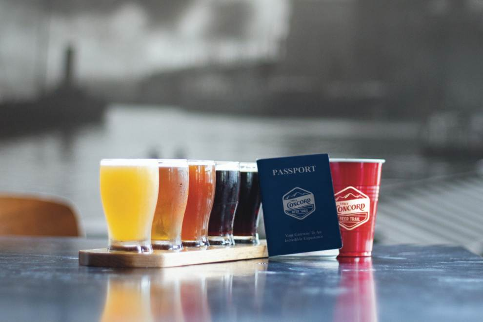 beer flight and a passport